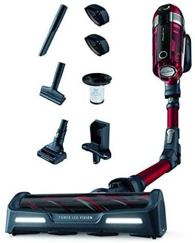 Rowenta XForce Flex 11.50 RH9829 Aspiradora escoba con mopa sin cable, cabezal con luces Led