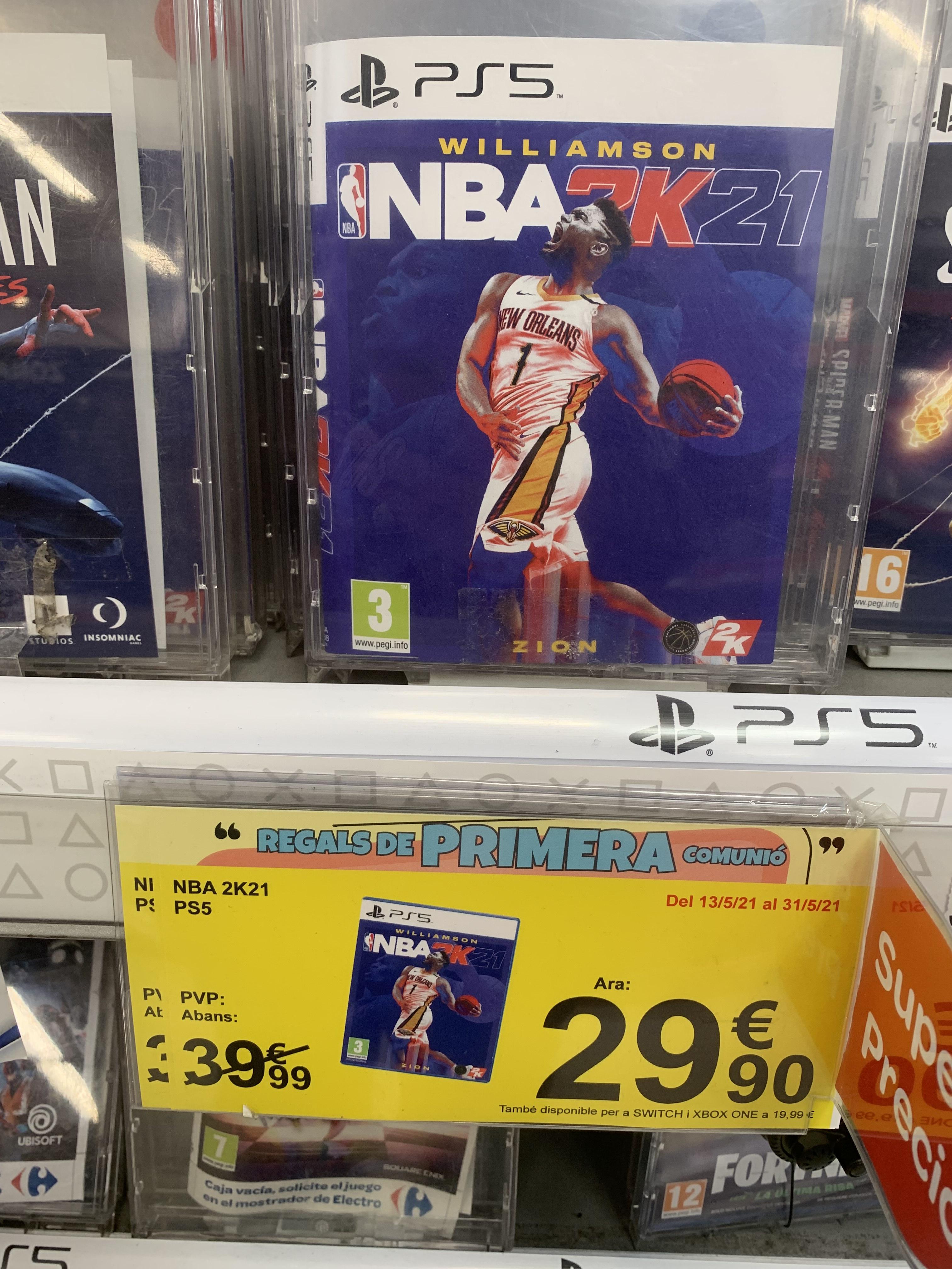 NBA 2k21 PS5 en Carrefour Reus