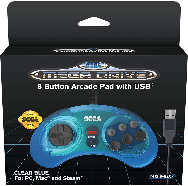 Mando Retro-Bit Licencia Oficial Sega Mega Drive 8-button