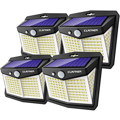 Luz LED Solar Exterior, Claoner 128