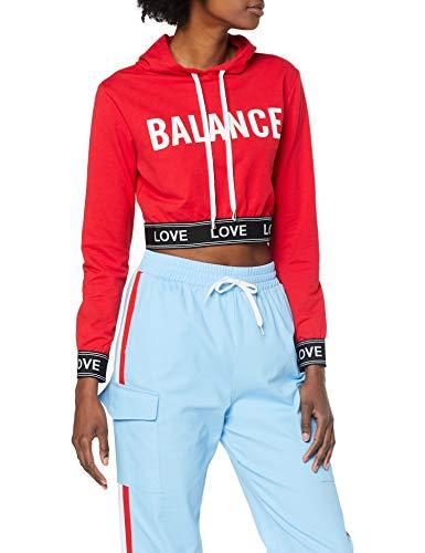 Neon Coco BALANCE Hooded Crop Sweatshirt Sudadera para Mujer (Talla M)