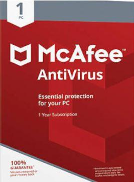 McAfee AntiVirus 1 año 1 dispositivo