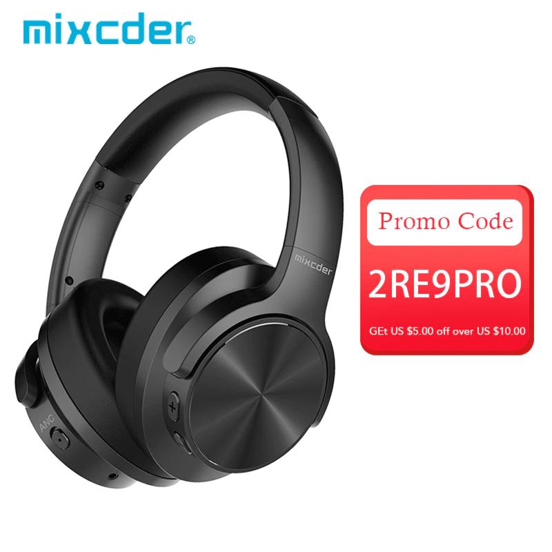 Mixcder-Auriculares inalámbricos con Bluetooth, con cancelación activa de ruido, 30 horas de autonomía, super HiFi, de bajos profundos