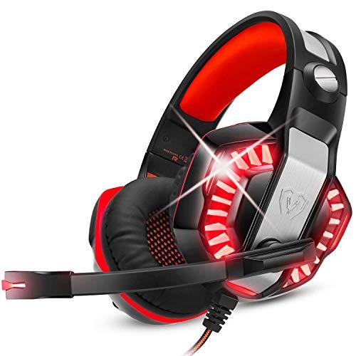 Auriculares De Diadema Para Ps5 Con MicróFono, Pc,Xbox One,PortáTil,Sonido Envolvente