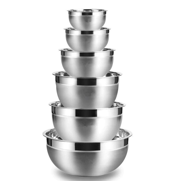 Set 6 cuencos de acero inóxidable