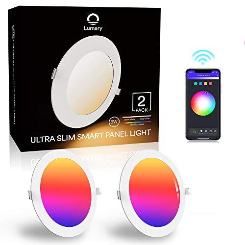 Pack de 2 LED de techo inteligentes ultrafinas