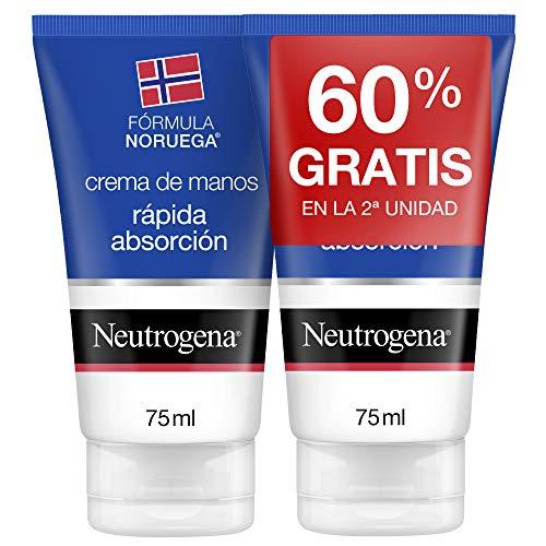 Neutrogena Crema de Manos Reparadora para Grietas, Pack 2 x 75 ml