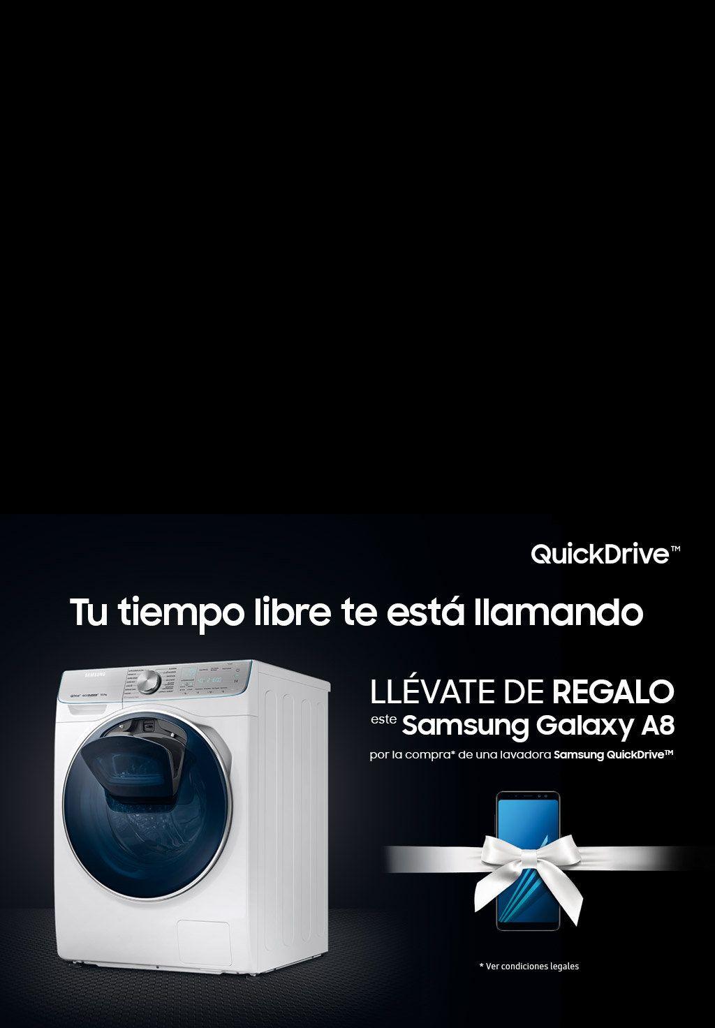 Samsung A8 GRATIS (370€) al comprar Lavadora QuickDrive (677€)