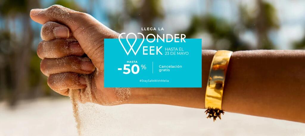 Meliá Wonder Week! Hasta el –50% en hoteles