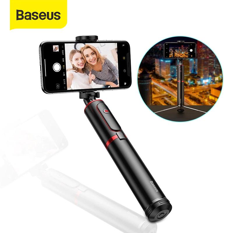 Baseus-Trípode inalámbrico por bluetooth para móvil, palo de autofoto con monopié extensible, remoto, para iPhone, Oneplus, Huawei
