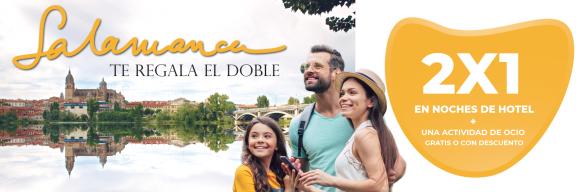 2x1 noches hotel Salamanca + actividad ocio