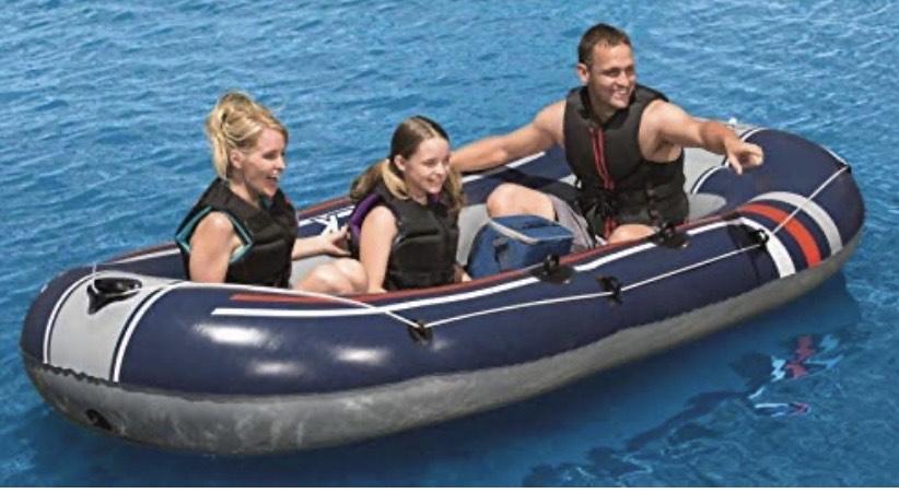 Bestway Hydro-Force Treck X 3 - Bote Hinchable para 3 Adultos y 1 niño, 307 x 126 x 39 cm