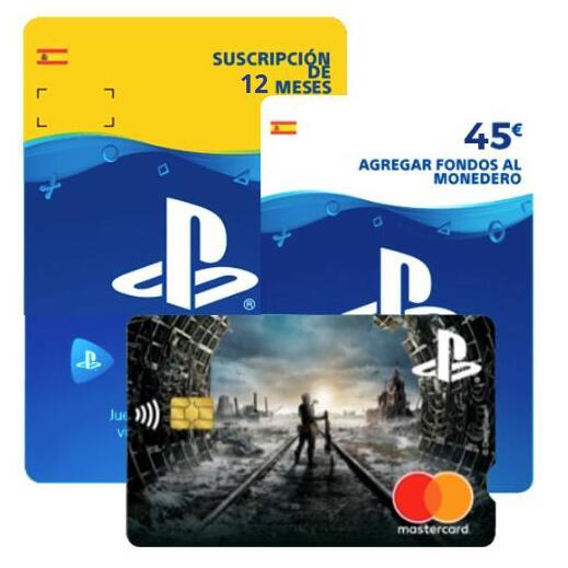 ¡12 meses PS Plus + 45€ saldo GRATIS! con Tarjeta Playstation®
