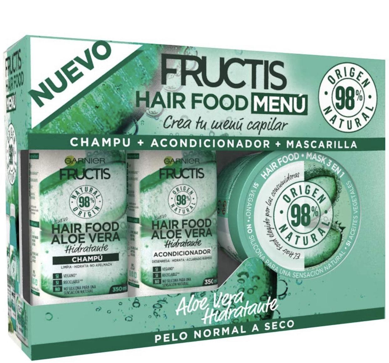 Garnier Fructis Hair Food (Amazon Fresh) - Pack Champú + Acondicionador + Mascarilla