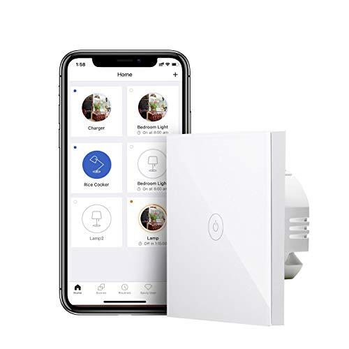 Interruptor inteligente de pared Meross [Compatible con Alexa, Siri, Google y SmartThings]