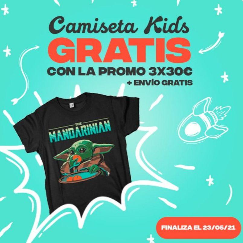 promo del 3x30€ en camisetas KIDS + 1 GRATIS
