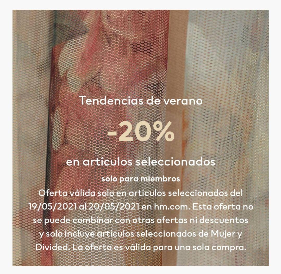 -20% en H&M para miembros (sólo hoy)