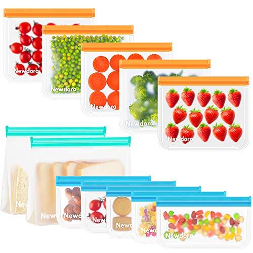 Newdora Bolsas Reutilizables para Almacenamiento de Alimentos ( Pack de 12)