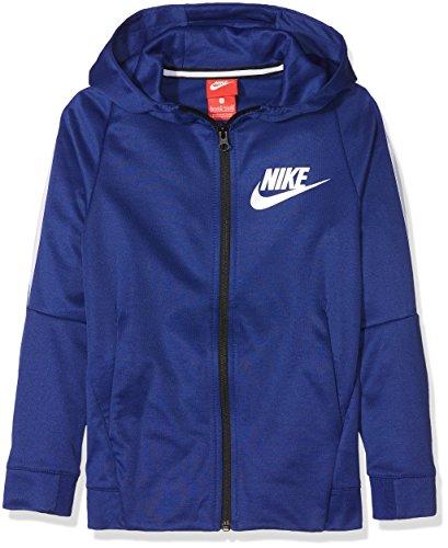 Nike B NSW Jkt Tribute Chaqueta, Niños, Azul (Deep Royal Blue/White), L
