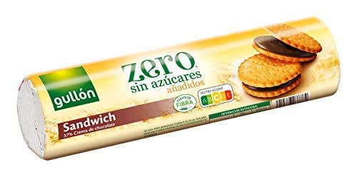 Gullón Galleta Sándwich Chocolate ZERO sin Azúcares añadidos, 250g por sólo 0,99€