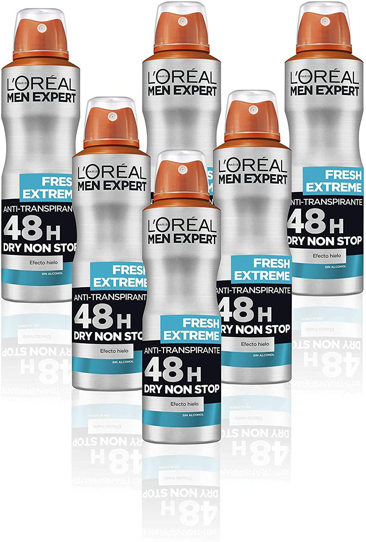 Desodorante L'Oréal hombre pack 6 (150ml/ud)