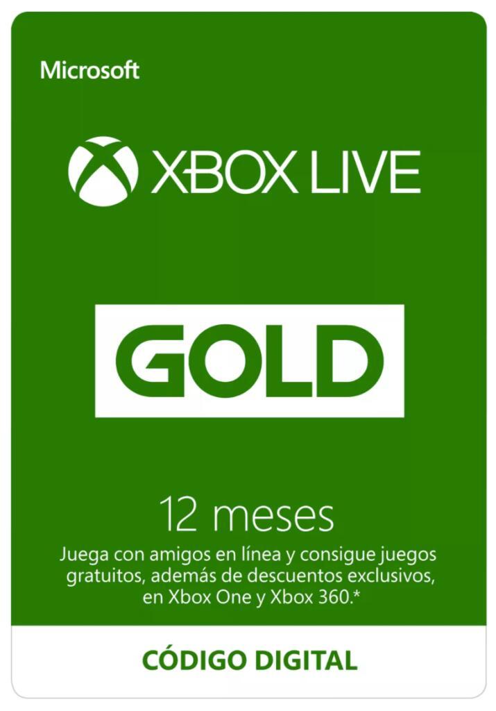 12 Meses Xbox Live Gold [EU]