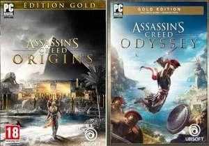 Assassin's Creed Origins Gold por 9,79€ / Odyssey Gold por solo 14,99€ (PC - Epic Games)
