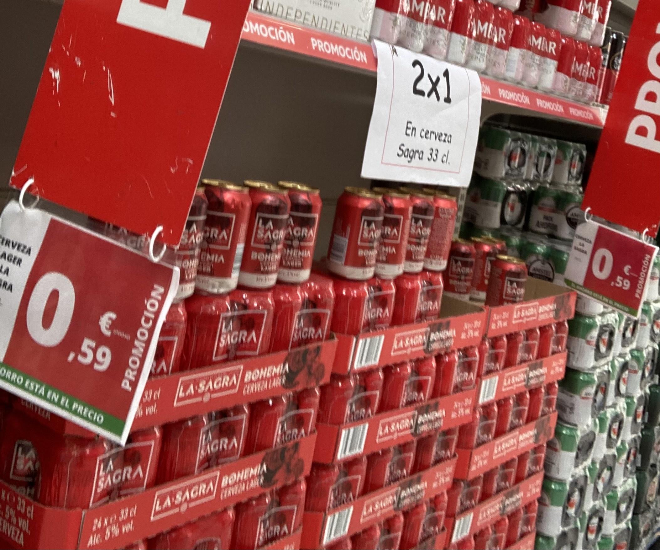 2 latas cerveza La Sagra Bohemia 0,59€