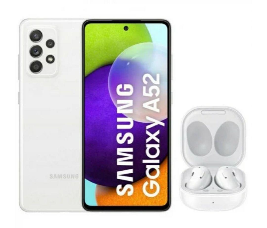Samsung galaxy A52 6 GB de ram y 128GB almacenamiento Blanco + Galaxy Buds Live Blancos