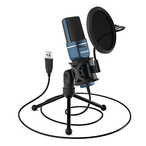 Micrófono de condensador con trípode