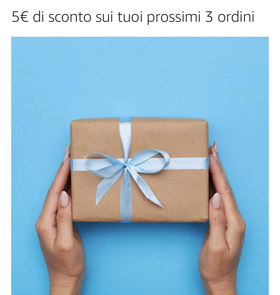5€ de descuento en compras +25€ para 3 pedidos - Amazon IT