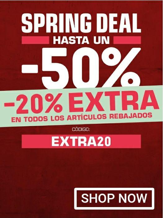 Spring deal, hasta un -50% + -20% Extra