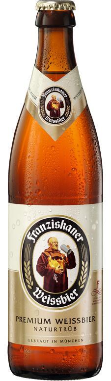 Cerveza Franziskaner Hefe-Weissbier Naturtrüb botella 50 cl - oferta 2ª ud. -50%