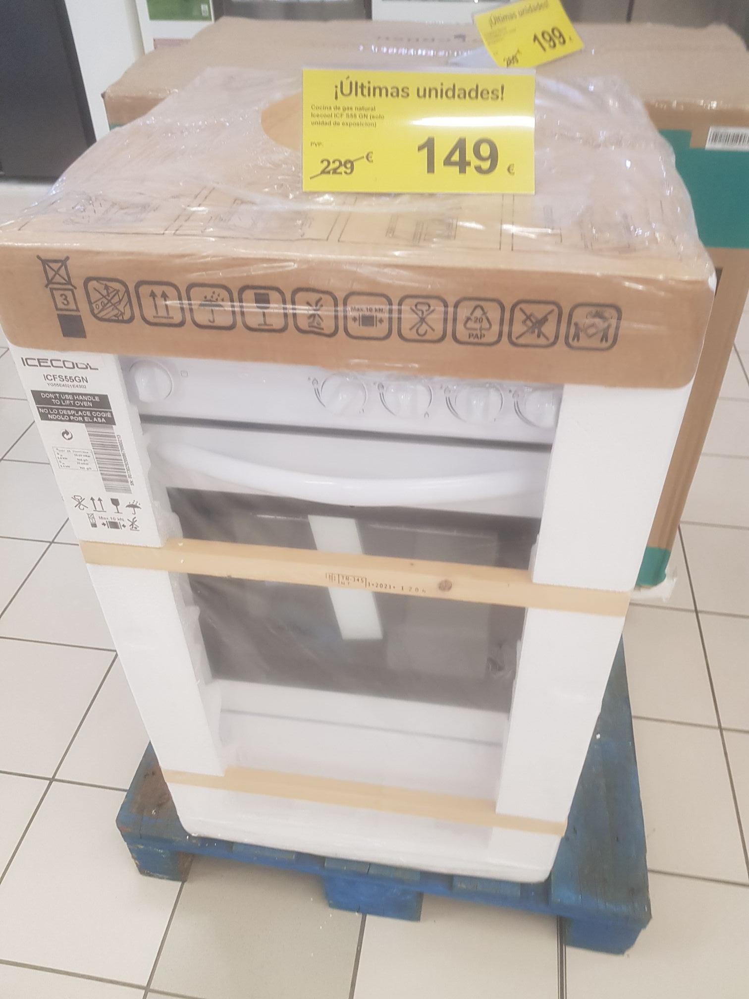 Cocina gas butano con horno.Carrefour El Alisal