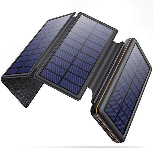 Cargador con panel solar para vivac o acampada 26kMah