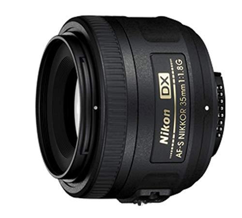 Nikon AF-S DX Nikkor 35 mm f/1.8 G - Objetivo para montura F, distancia focal fija 52.5 mm, apertura f/1.8G, negro - Versión Europea