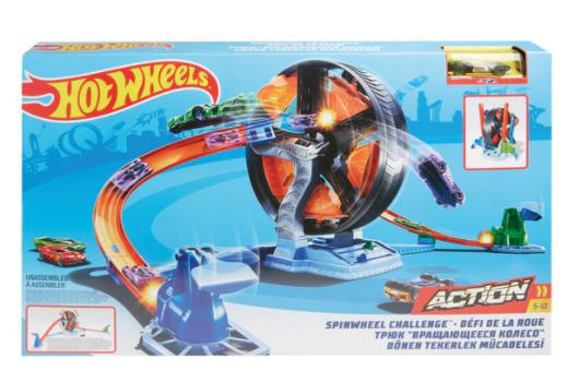 HOT WHEELS Hot Wheels Pista de coches de juguetes Desafio de la Rueda