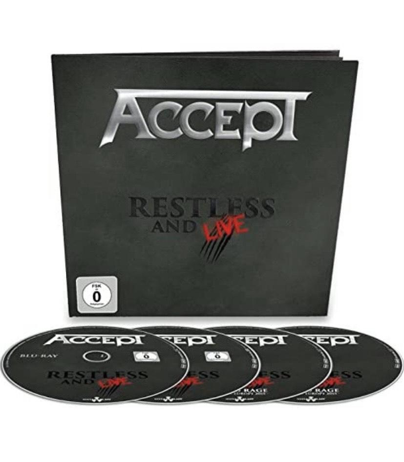 Todo un clásico en Blu-ray Accept - Restless & Live (4 Blu-Ray) [DVD]