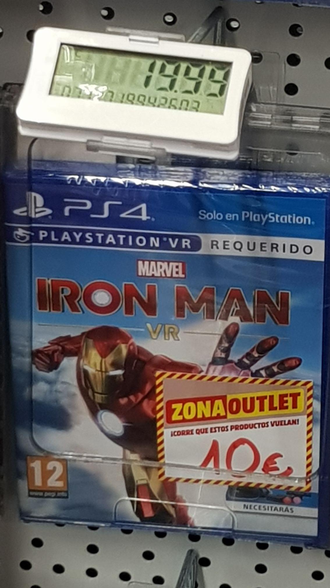Iron Man VR ps4 en Media Markt de Castellon
