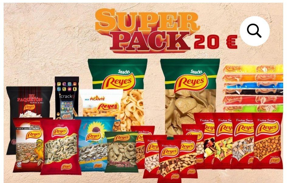 SUPER PACK Frutos secos,torreznos, gominolas.. por solo 20€ y ENVÍO GRATIS