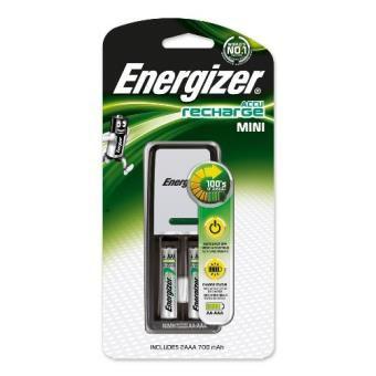 Cargador de pilas Energizer + 2 pilas AAA 850 mAh (Sólo socios)
