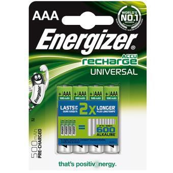 Energizer Pilas recargables 4 x AAA 500 Mah (Sólo socios)