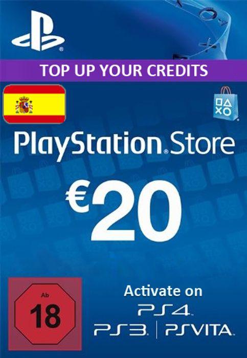 Tarjeta prepago 20€ PSN