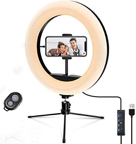 """Ring Light - Anillo de luz LED de 10,2"""" con trípode de luz para fotografía y vídeo"""