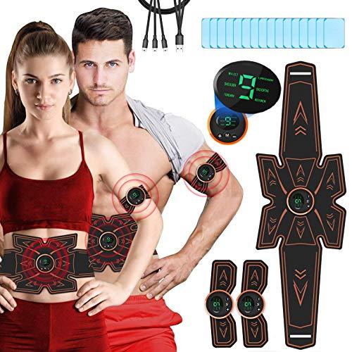 Electroestimulador muscular con 16 piezas.