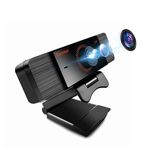 Karinear Webcam con Micrófono, HP 1440P.