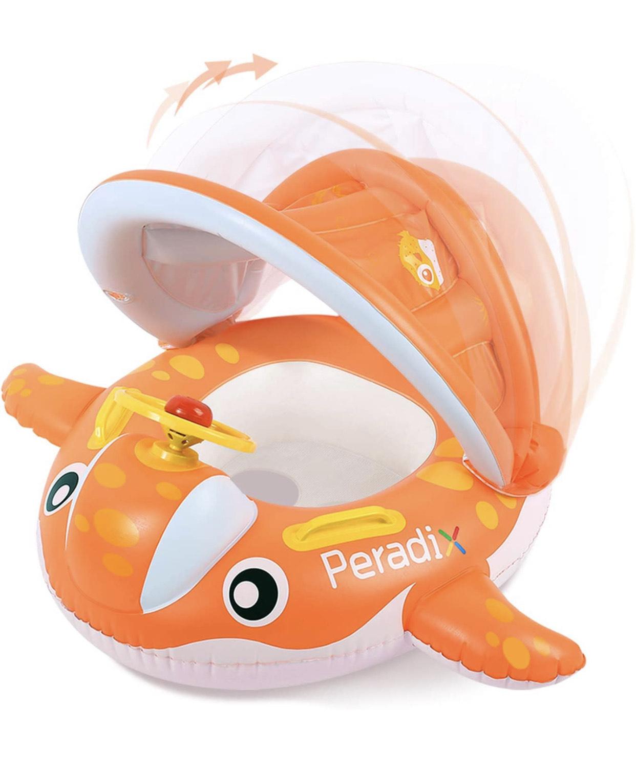 Flotador bebés de 1 a 3 años con techo