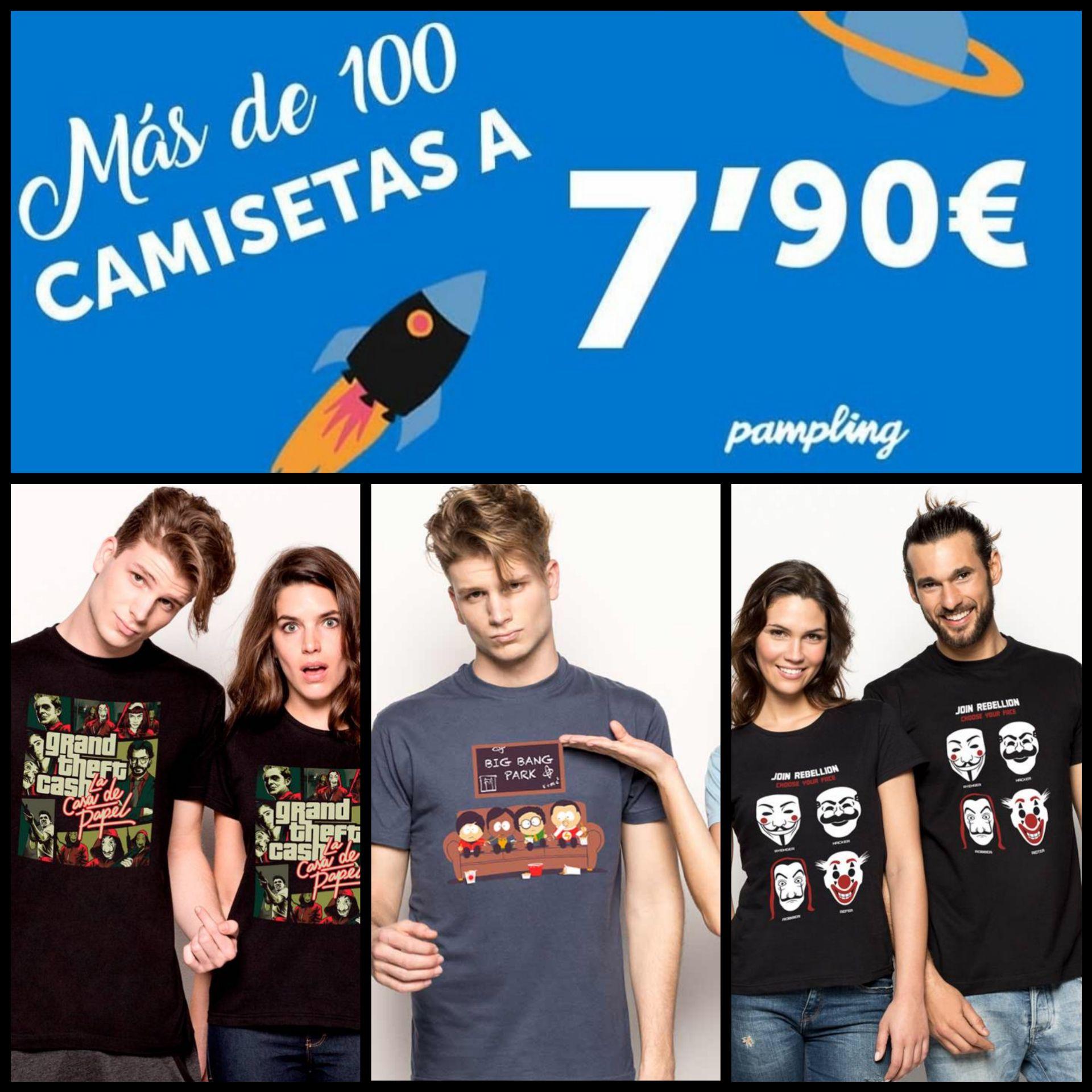 Camisetas Pampling por 7,90€ + 5€ de Descuento comprando 5