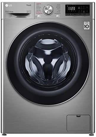 LG F2WV5S85S2S - Lavadora inteligente (fondo especial 46cm, 8,5kg, 1200rpm, A+++(-30%), inox antihuellas, serie 500)