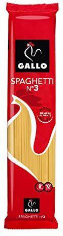 Pastas Gallo - Spaghetti 3 - 250 g - [Pack de 24]